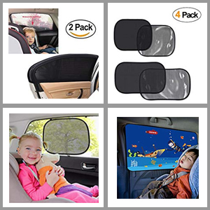 pack of 2 Baby Children Kids Car Window Sun Shades Blinds UV Protection